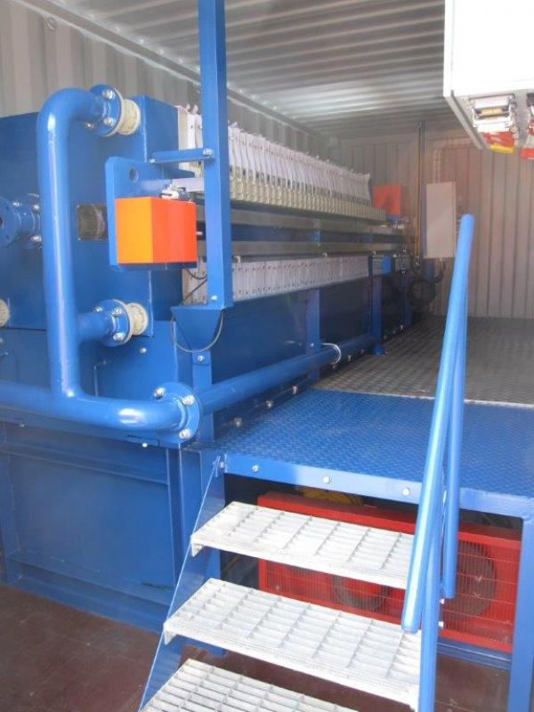Burrows Brothers. Mobile Screener & Filter Press Module.